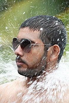 Man Bathing Royalty Free Stock Photo - Image: 15221915