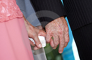 Senior Couple's Hands Royalty Free Stock Photo - Image: 15223415