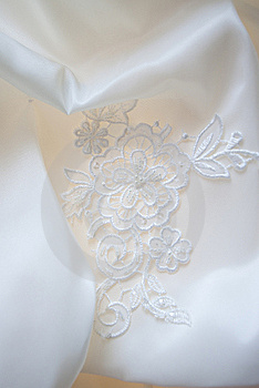Wedding dress detail Free Stock Image
