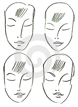Set Of Woman's Faces Stock Image - Image: 15224521