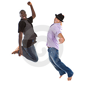 Young Interracial Teens Jumping Stock Image - Image: 15224701