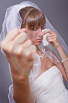 Frustrated Bride Showing Her Fist Stock Photos - Image: 15224733