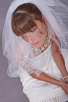 Sad Bride On The Ground Royalty Free Stock Photography - Image: 15224787