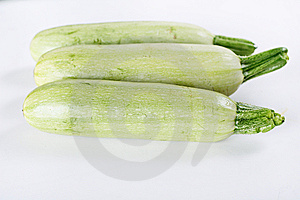 White Zucchini Isolated On White Stock Images - Image: 15225874