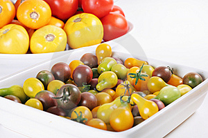 Heirloom Tomatoes Fresh From The Garden Stock Photo - Image: 15225910