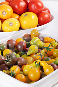 Variety Of Organic Heirloom Tomatoes Stock Photography - Image: 15225912