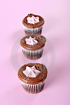 Raspberry Cupcake Lineup Stock Image - Image: 15225961