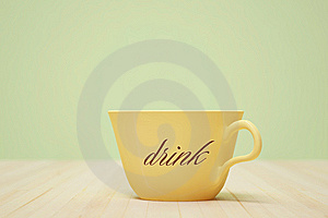 Yellow Cup Royalty Free Stock Images - Image: 15226479