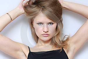 Portrait Of Beautiful Young Fashion Model Royalty Free Stock Image - Image: 15229516