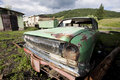 Old car wreck Stock Photos