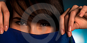 Close Up Of Asian Womans Face Stock Photography - Image: 15230382