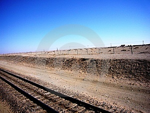 Train Tracks In Northern China Stock Photo - Image: 15232870