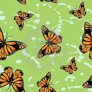 Butterfly Seamless Wallpapers Royalty Free Stock Image - Image: 15233566