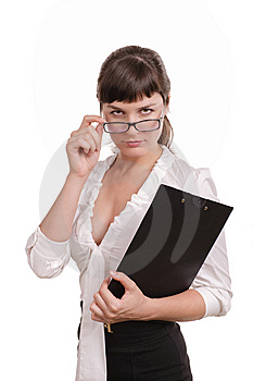 Beautiful Business Woman With Royalty Free Stock Photo - Image: 15234265