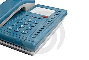 Blue Phone | Isolated Stock Photo - Image: 15235360