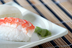 Sushi With Prawn Detail Stock Photo - Image: 15236820
