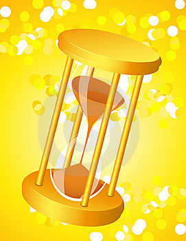 Sandglass On Glare Light Background Royalty Free Stock Photo - Image: 15240455