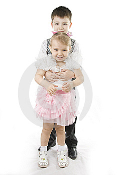 Happy Brother The Sister Royalty Free Stock Photography - Image: 15247017