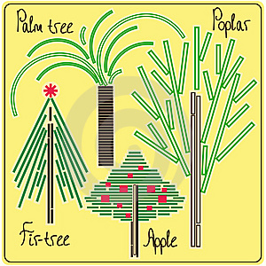 Tree_quadrate Stock Photography - Image: 15247972