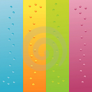 Set Of 4 Backgrounds With Bubbles Royalty Free Stock Photo - Image: 15249035