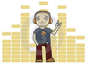 Man In Headphones Stock Photos - Image: 15250233