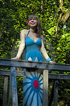 Girl On The Bridge Royalty Free Stock Photo - Image: 15250345