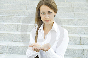 Young Woman Gesturing Royalty Free Stock Image - Image: 15251296
