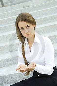 Young Woman Gesturing Royalty Free Stock Photos - Image: 15251308