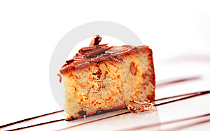 Chocolate Glazed Cake Stock Photos - Image: 15251983