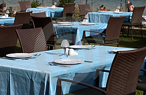 Interior Of A Summer Terrace Of Restaurant Stock Photos - Image: 15252393