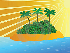 Tropical Island In Ocean Royalty Free Stock Photography - Image: 15253007