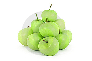 Green Ecological Grown Apple Royalty Free Stock Photo - Image: 15253115