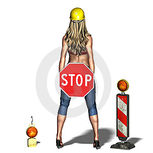 Young And Sexy Woman Says: Please Stop Royalty Free Stock Photo - Image: 15253385