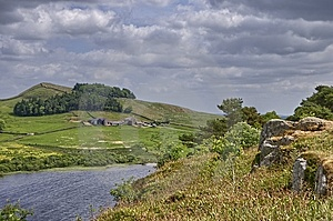 Hadrian's Wall And Crag Lough Royalty Free Stock Photography - Image: 15255987