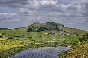Hadrian's Wall And Crag Lough Royalty Free Stock Image - Image: 15256016