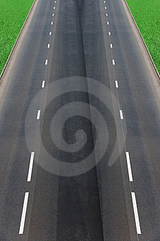 Road  Asphalted  Highway Royalty Free Stock Photography - Image: 15256037