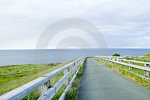 Foot Path At Cape Spear Newfoundland Stock Photography - Image: 15256432