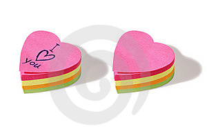 Heart Shaped Post It Notes Stock Photo - Image: 15257020