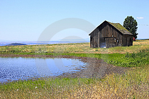 Old Shack & A Pond. Royalty Free Stock Photos - Image: 15257948
