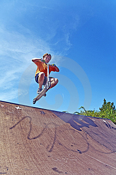 Boy With Scooter At Skate Park Royalty Free Stock Photography - Image: 15259987