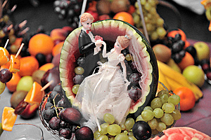 Fruit Wedding Plate Stock Photos - Image: 15261643