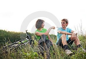 Relax Biking Royalty Free Stock Photos - Image: 15263328