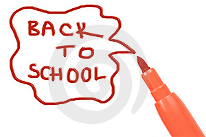 Marker Pen Writing -back To School Royalty Free Stock Photo - Image: 15263915