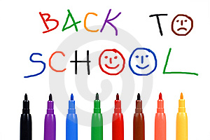 Set Of Felt-tip Pens Of Different Colors And Text- Royalty Free Stock Photography - Image: 15264387