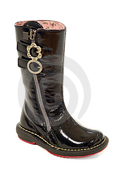 Black Boot Royalty Free Stock Image - Image: 15264536
