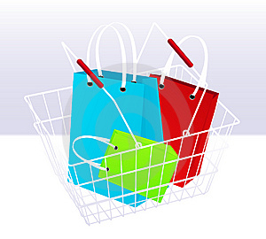 Shopping Chart And Bags Royalty Free Stock Image - Image: 15265416