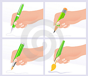 Writing And Drawing Stock Photo - Image: 15265490