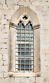 Beautiful Historical Window In Mediterranean Style Royalty Free Stock Photo - Image: 15266945