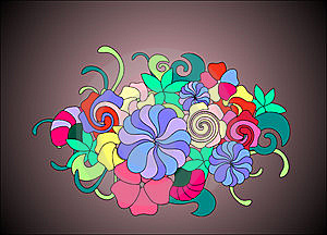 Bunch Of Flowers Royalty Free Stock Photos - Image: 15267168