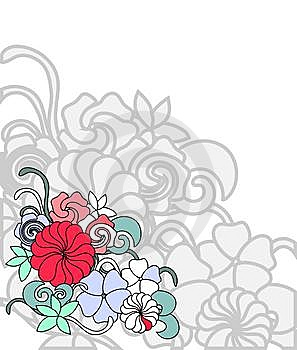 Frame Of Flowers Stock Images - Image: 15267174